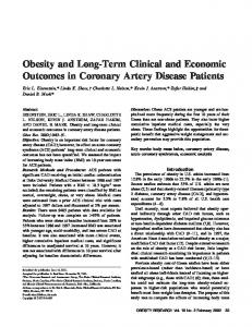 Obesity and LongTerm Clinical and Economic ... - Wiley Online Library