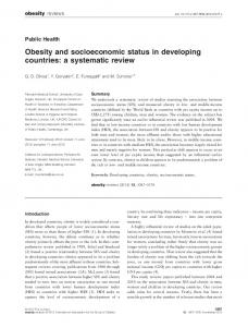 Socioeconomic Status And Developing >> Socioeconomic Status And Esophageal Wiley Online Library