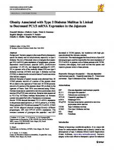 Obesity Associated with Type 2 Diabetes Mellitus Is ... - Springer Link
