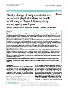 Obesity, change of body mass index and ... - BMC Public Health
