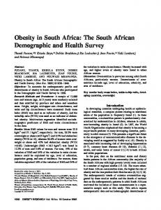 Obesity in South Africa: The South African ... - Wiley Online Library