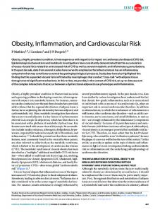 Obesity, Inflammation, and Cardiovascular Risk