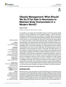 Obesity Management: What Should We Do If Fat Gain ...