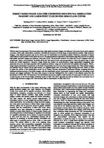 object based image analysis combining high spatial ... - ISPRS Archives