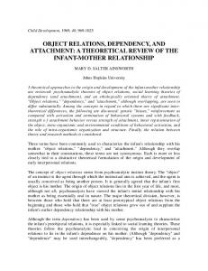 object relations, dependency, and attachment - Psychology ...