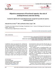 Objective assessment of functional capacity: the ... - BVS Cuba - Infomed