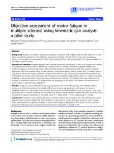 Objective assessment of motor fatigue in multiple sclerosis using ...