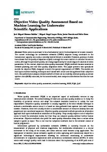 Objective Video Quality Assessment Based on Machine ... - MDPI