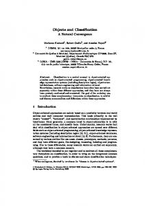 Objects and Classification - Springer Link