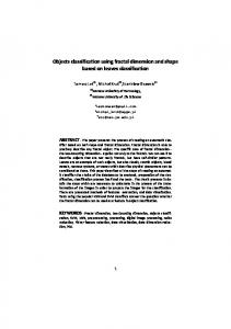 Objects classification using fractal dimension and ...
