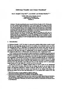 Oblivious Transfer and Linear Functions* Ivan B. DamgXard1, Serge