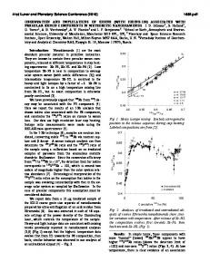 observation and implications of iodine (with iodine-129) associated