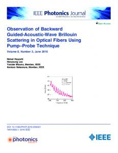 Observation of Backward Guided-Acoustic-Wave ... - IEEE Xplore