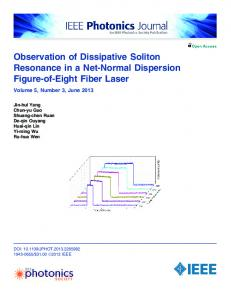 Observation of Dissipative Soliton Resonance in a Net ... - IEEE Xplore