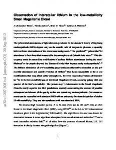 Observation of interstellar lithium in the low-metallicity Small ...