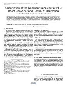 Observation of the Nonlinear Behaviour of PFC Boost Converter and