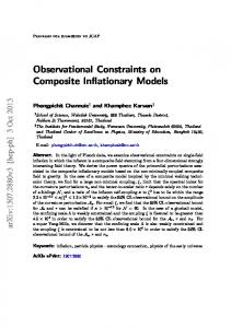Observational Constraints on Composite Inflationary