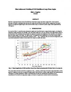 Observations and Modeling of GEO Satellites at ... - AMOS Conference