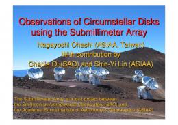 Observations of Circumstellar Disks using the Submillimeter ... - ISA