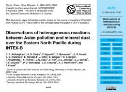 Observations of heterogeneous reactions during