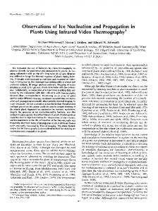 Observations of Ice Nucleation and Propagation in Plants Using ...