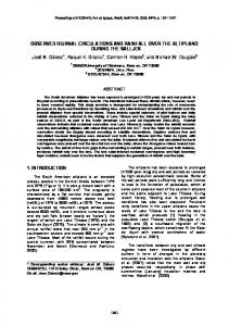 Observed diurnal circulations and rainfall over the altiplano during the