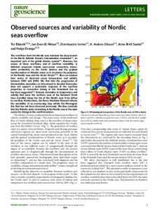 Observed sources and variability of Nordic seas overflow