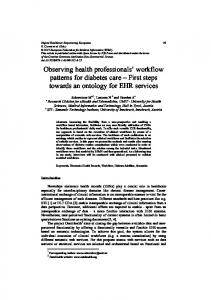 Observing health professionals' workflow patterns