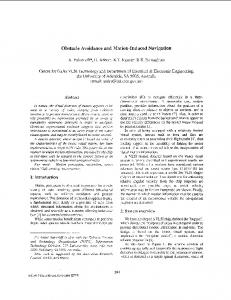 Obstacle Avoidance and Motion-Induced Navigation - CiteSeerX