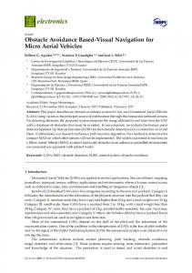 Obstacle Avoidance Based-Visual Navigation for