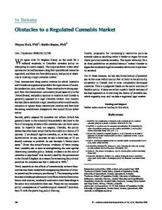 Obstacles to a Regulated Cannabis Market - SAGE Journals