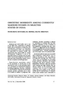 obstetric morbidity among currently married women in ... - medIND