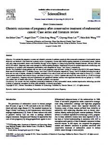 Obstetric outcomes of pregnancy after conservative treatment of ...