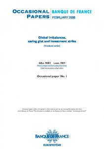 Occasional Papers - Banque de France