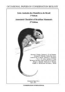occasional papers in conservation biology - Conservation International