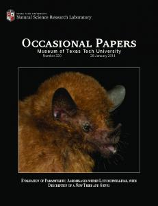 Occasional Papers Occasional Papers - KU ScholarWorks - The ...