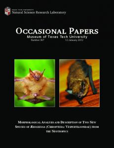 Occasional Papers Occasional Papers