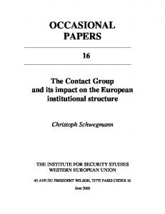 OCCASIONAL PAPERS - Peace Palace Library