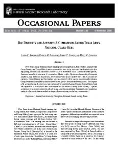 Occasional Papers - Texas Tech University