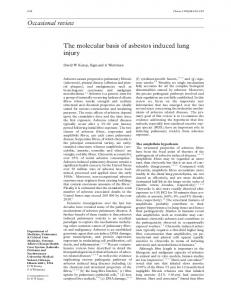 Occasional review The molecular basis of asbestos ... - BMJ Thorax