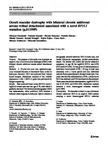Occult macular dystrophy with bilateral chronic ... - Springer Link