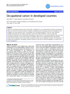 Occupational cancer in developed countries - Environmental Health
