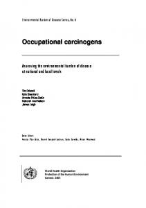 Occupational carcinogens - World Health Organization