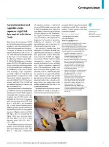Occupational dust and cigarette smoke exposure might ... - The Lancet