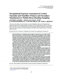 Occupational Exposure Assessment in Carbon ... - Oxford Academic