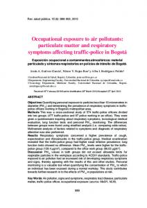 Occupational exposure to air pollutants: particulate matter and ...