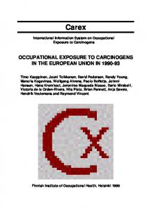 occupational exposure to carcinogens in the european ... - CiteSeerX