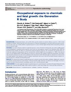 Occupational exposure to chemicals and fetal growth - BioMedSearch