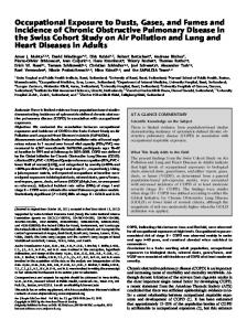 Occupational Exposure to Dusts, Gases, and Fumes ... - ATS Journals