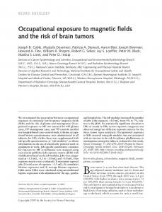 Occupational exposure to magnetic fields and the ... - Semantic Scholar